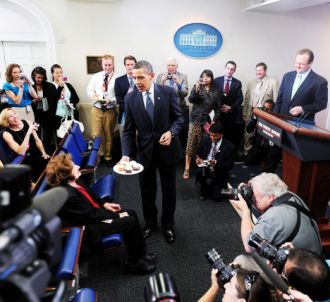 En août 2009, Barack Obama fête l'anniversaire de la...
