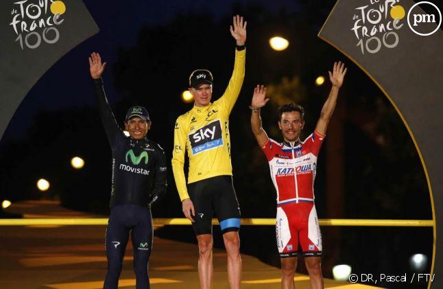 Le podium du Tour de France 2013
