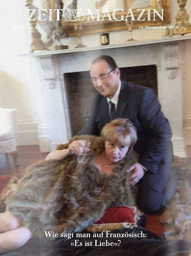 Un faux couple Hollande/Merkel à la Une du