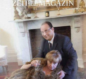 Un faux couple Hollande/Merkel à la Une du 'ZEITmagazin'