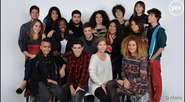 """Tous les candidats à """"Nouvelle Star 2014"""" réunis."""
