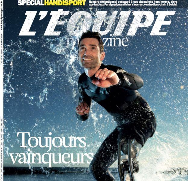 """La couverture de """"L'Equipe magazine"""" en braille"""