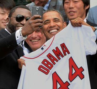 Barack Obama et David Ortiz lors du fameux selfie