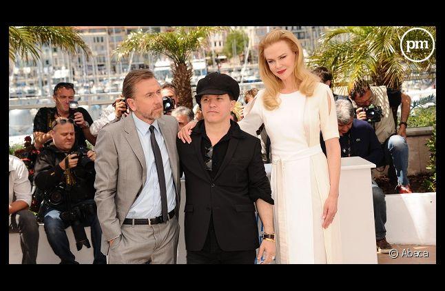 """L'équipe de """"Grace de Monaco"""" aujourd'hui à Cannes : Tim Roth, Olivier Dahan et Nicole Kidman"""