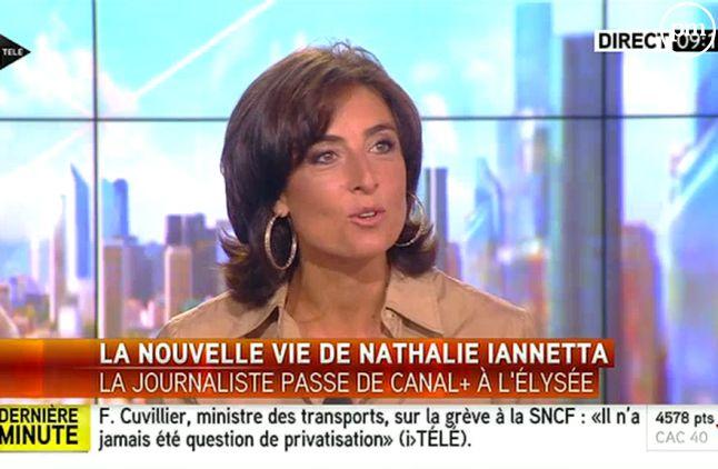 Nathalie Iannetta, sur i-TELE le 11 juin 2014.