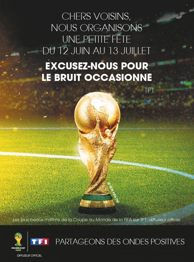 TF1 fait des pubs sur le Mondial