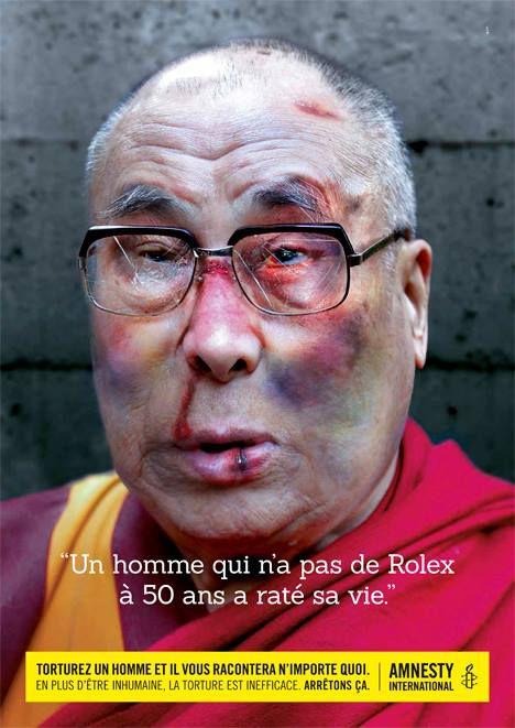 Le Dalaï-Lama torturé par Amnesty International