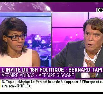 Audrey Pulvar sur i-TELE face à Bernard Tapie.