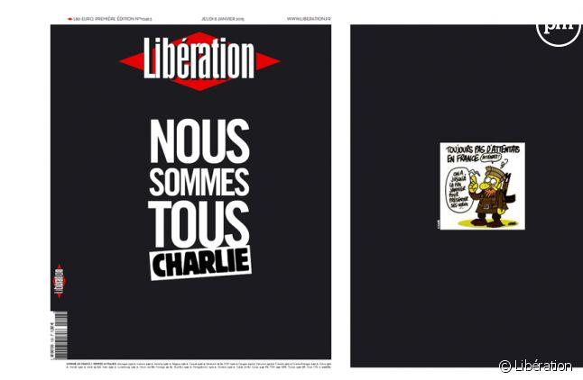 """La Une de """"Libération"""" hommage à """"Charlie Hebdo"""""""