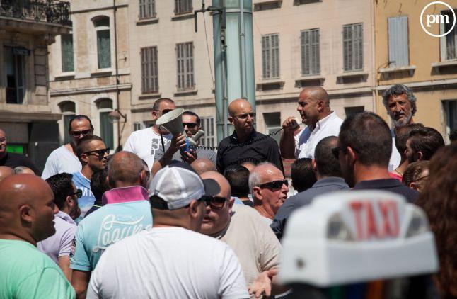 Grève des taxis marseillais, le 9 juin 2015.