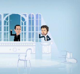 Thierry Ardisson et Stéphane Guillon en pixels dans le...