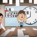 Daphné Bürki, Ariel Wizman et Nicolas Domenach en pixels dans le clip de Canal+ pour la rentrée 2015