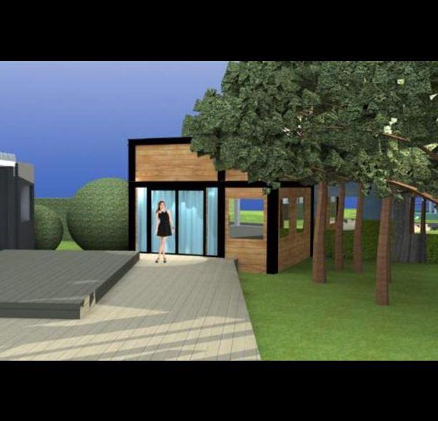 """La nouvelle maison de """"Secret Story"""". Le jardin qui donne sur une partie avec cheminée."""