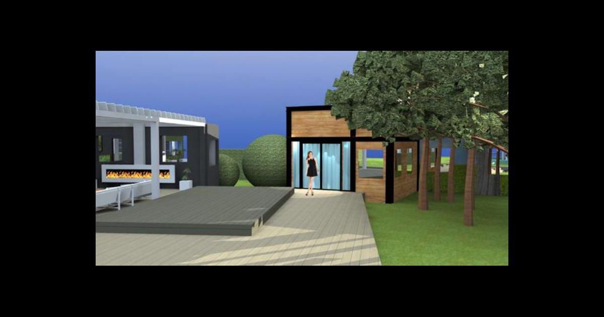 La nouvelle maison de secret story le jardin qui donne for Cuisine qui donne sur le jardin