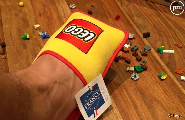Les pantoufles Lego