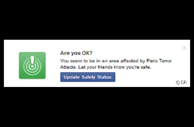 """L'outil de """"contrôle d'absence de danger"""" de Facebook"""