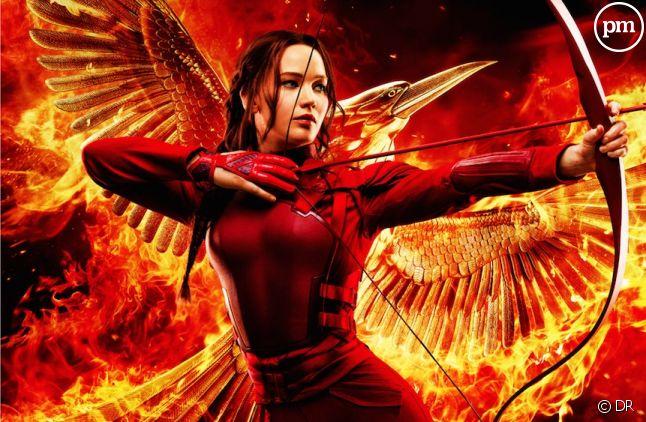 """Jennifer Lawrence sur l'affiche du dernier """"Hunger Games"""""""