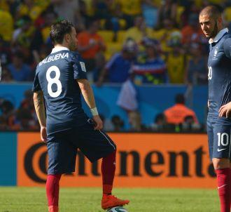 <span>Karim Benzema et Mathieu Valbuena lors de la coupe...