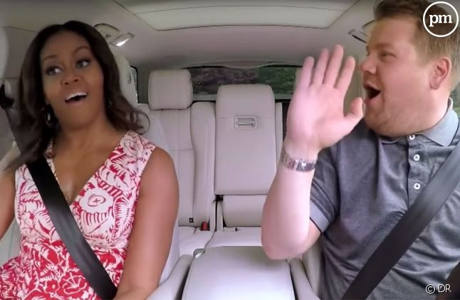 "James Corden et Michelle Obama dans ""Carpool Karaoke"""