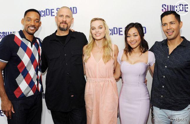 <span>Will Smith, David Ayer, Margot Robbie, Karen Fukuhara et Jay Hernandez</span>