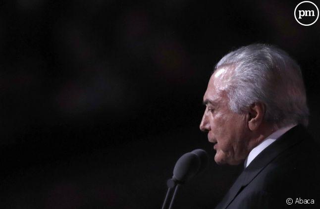 Michel Temer cette nuit dans le stade Maracana