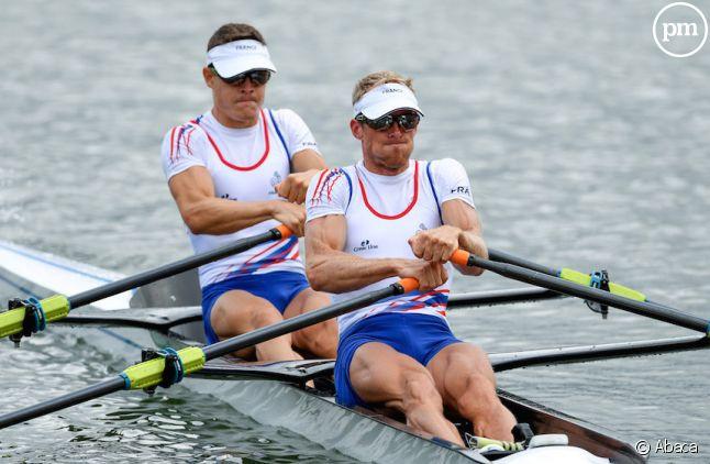 Pierre Houin et Jérémie Azou médaillés d'or en deux de couple poids légers