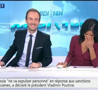 Fou rire d'Aurélie Casse, présentatrice de BFMTV.