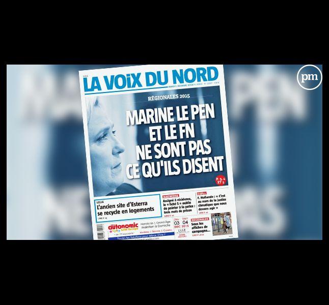 """""""La Voix du Nord"""", le 1er décembre 2015."""