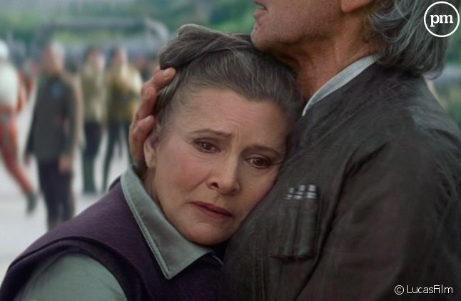 "Carrie Fisher et Harrison Ford dans ""Star Wars Episode 7"""