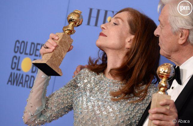 Isabelle Huppert sacrée meilleure actrice dramatique aux Golden Globes