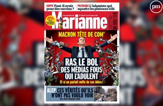 """La Une de """"Marianne""""."""
