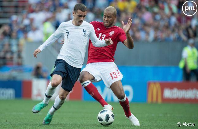 Antoine Griezmann, joueur de l'équipe de France de football, lors de la Coupe du monde en Russie.