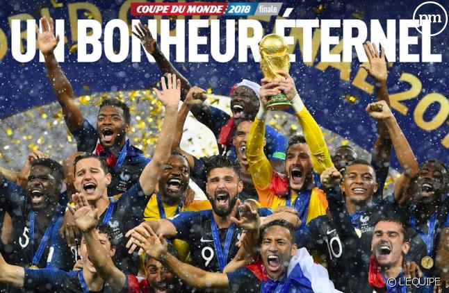 """Vingt ans après 1998, """"L'Équipe"""" a rejoué la carte de l'éternité"""