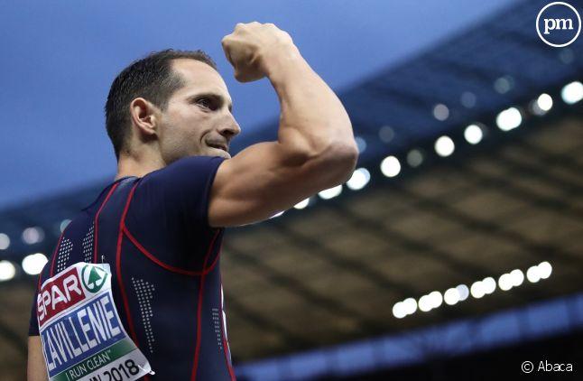 Renaud Lavillenie aux championnats européens d'athlétisme
