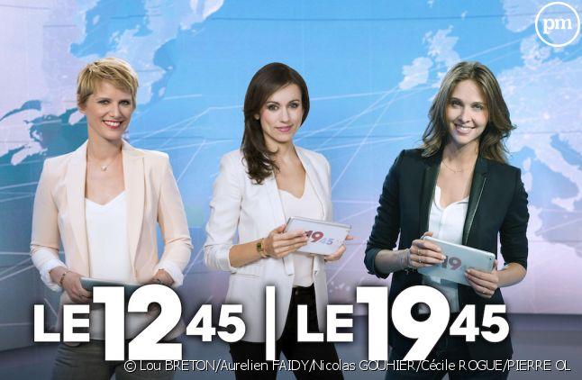L'équipe de présentatrices des journaux de M6 cet été