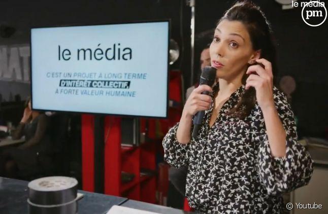 """Sophia Chikirou lors de la soirée de lancement du """"Média"""""""