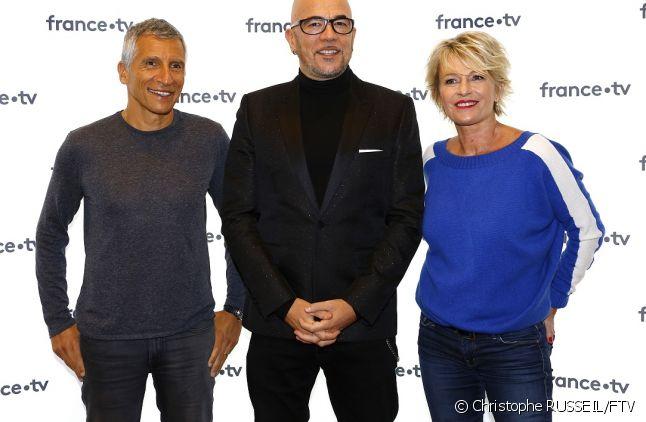 Le parrain 2018 Pascal Obispo entouré de Nagui et de Sophie Davant