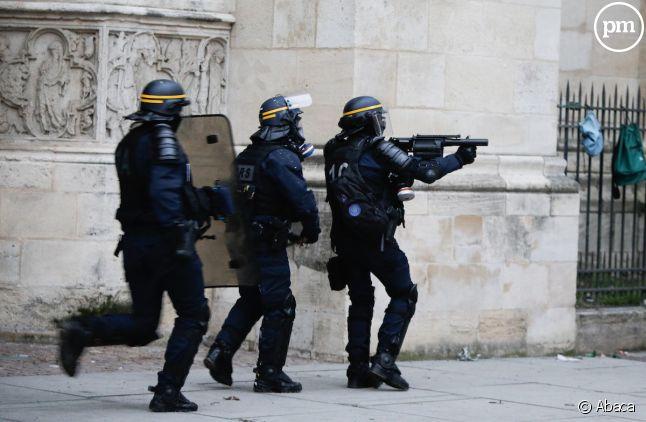 Les forces de l'ordre lors des manifestations des Gilets jaunes samedi dernier.