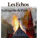 """""""La tragédie de Paris"""" en Une des """"Echos"""""""