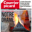 """""""Notre Drame"""" en Une du """"Courrier Picard"""""""