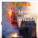 """""""Le coeur en cendres"""" en Une de """"La Croix"""""""