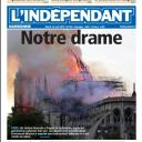 """""""Notre Drame"""" en Une de """"L'Indépendant"""""""