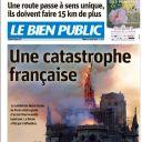 """""""Une catastrophe française"""" en Une du """"Bien Public"""""""