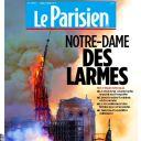 """""""Notre Dame des larmes"""" en Une du """"Parisien"""""""