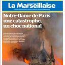 """""""Une catastrophe, un choc national"""" en Une de """"La Marseillaise"""""""