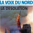 """""""La désolation"""" en Une de """"La Voix du Nord"""""""