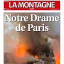 """""""Notre Drame de Paris"""" en Une de """"La Montagne"""""""