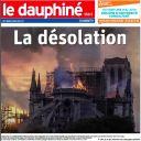 """""""La désolation"""" en Une du """"Dauphiné"""""""