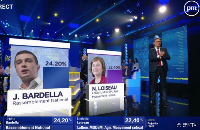 Alain Marschall était aux commandes de la soirée électorale de BFMTV