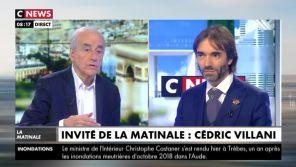 """Propos d'Eric Zemmour sur l'homosexualité : Cédric Villani a pensé à """"annuler sa venue"""" sur CNews"""